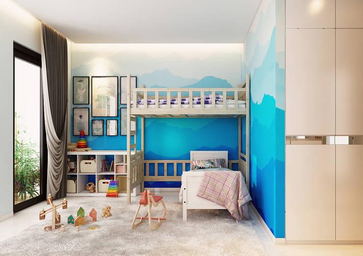 嬰兒房/兒童房 by AT Design