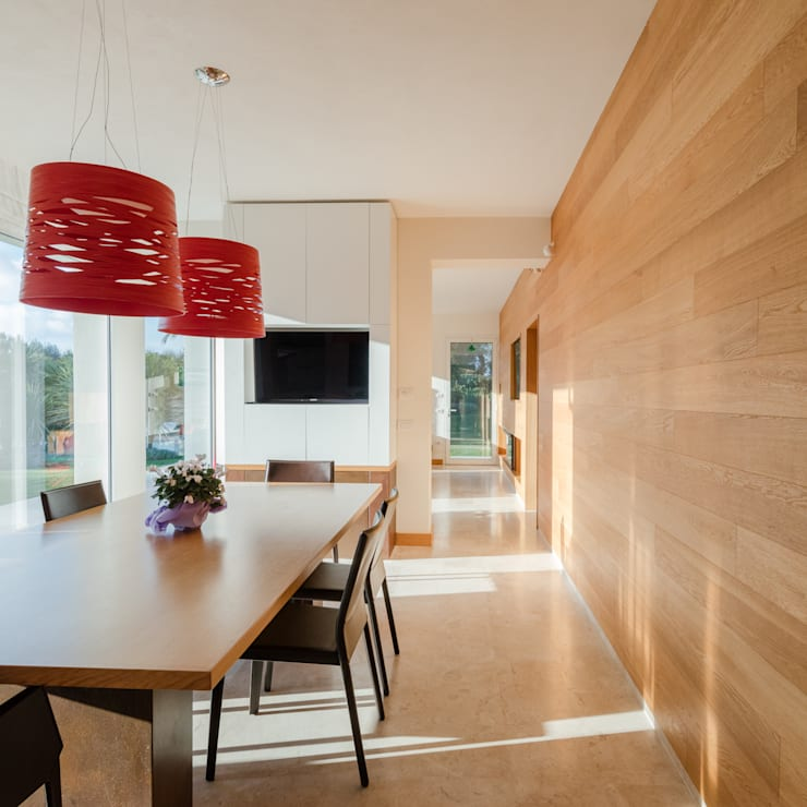Countryside Villa: Sala da pranzo in stile  di Officina29_ARCHITETTI, Moderno