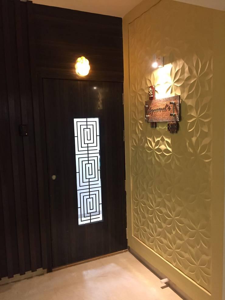 Hill Shire, Wagholi:  Corridor & hallway by Area Planz Design