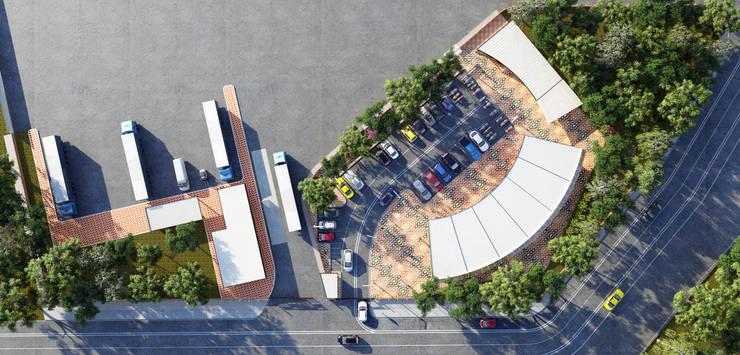MASTERPLAN: Bodegas de estilo industrial por Arquitectura Positiva