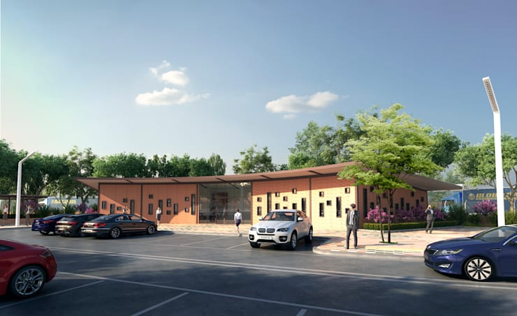 FACHADA PRINCIPAL: Casas de estilo  por Arquitectura Positiva