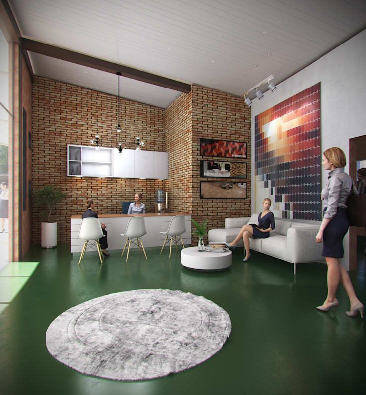 HALL DE ACCESO: Estudios y despachos de estilo  por Arquitectura Positiva
