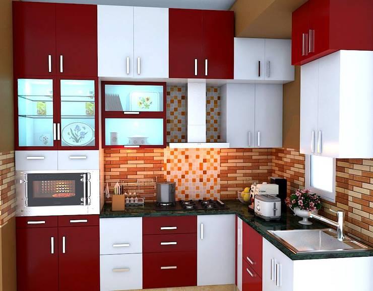 L Shape Modular Kitchen:  Kitchen by RID INTERIORS