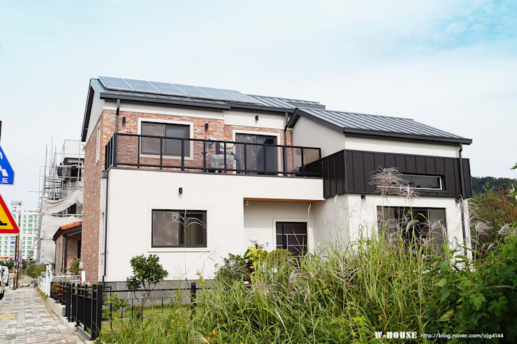 전주 혁신도시 45평형 ALC친환경주택: W-HOUSE의  전원 주택
