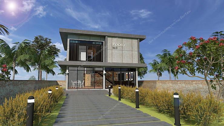 บ้านสองชั้น:  บ้านเดี่ยว by แบบบ้านออกแบบบ้านเชียงใหม่
