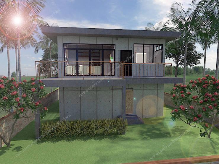 บ้านพักอาศัย 2 ชั้น:  บ้านเดี่ยว by แบบบ้านออกแบบบ้านเชียงใหม่