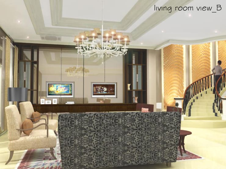 Pantai Mutiara R41:  Ruang Keluarga by sony architect studio