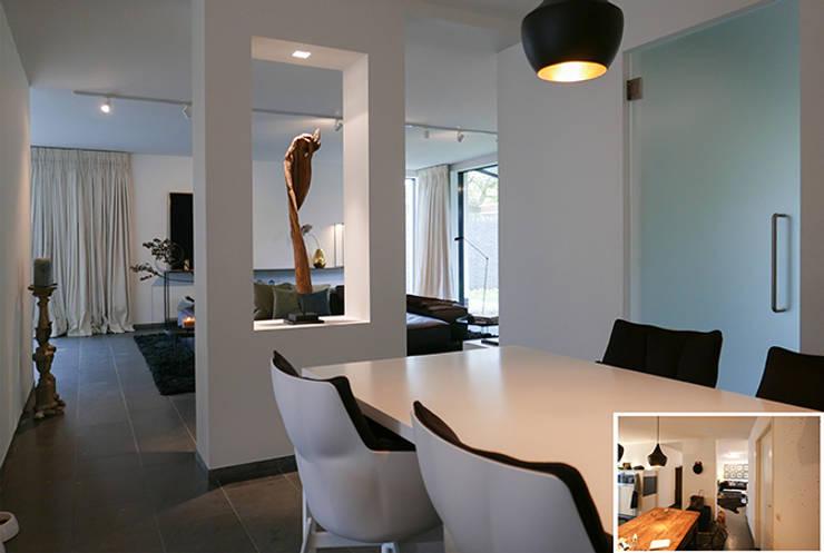 Projekty,  Jadalnia zaprojektowane przez KleurInKleur interieur & architectuur