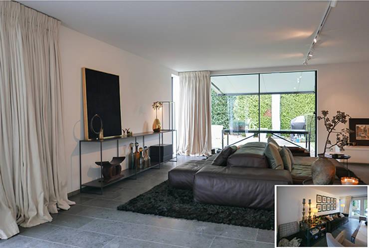 Projekty,  Salon zaprojektowane przez KleurInKleur interieur & architectuur