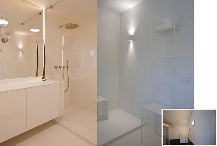 Projekty,  Łazienka zaprojektowane przez KleurInKleur interieur & architectuur