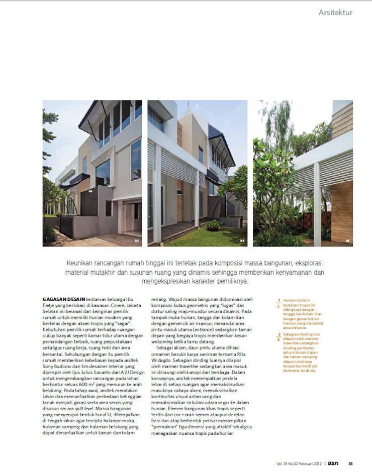 CINERE AT MAJALAH ASRI:  Rumah by sony architect studio
