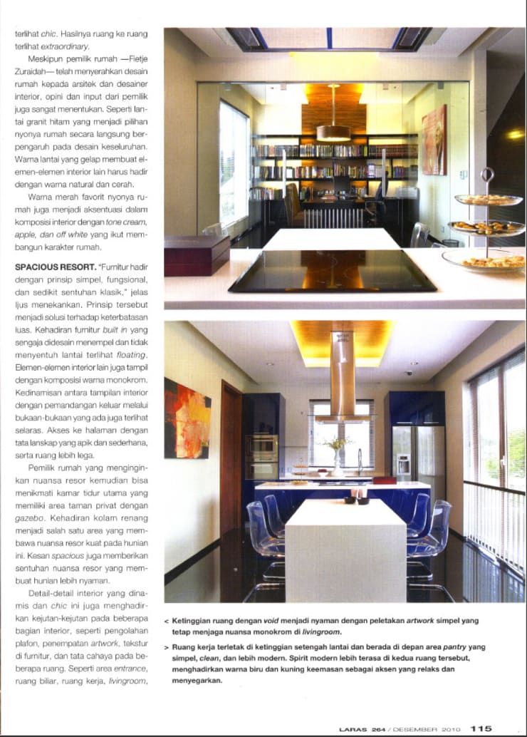 CINERE AT MAJALAH LARAS:  Ruang Makan by sony architect studio