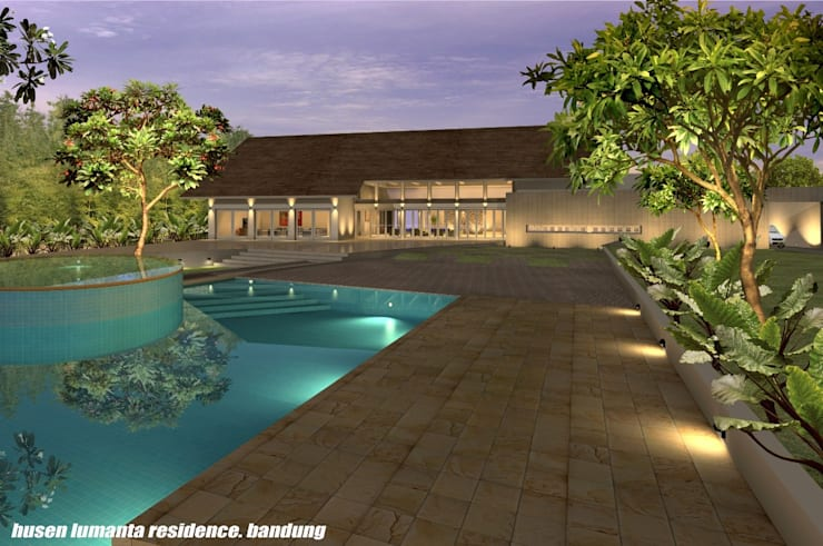 HUSEN LUMANTA ,BANDUNG:  Kolam Renang by sony architect studio
