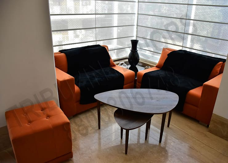 Living room by Tribuz Interiors Pvt. Ltd., Eclectic