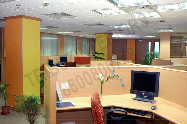 GDN:  Office buildings by Tribuz Interiors Pvt. Ltd.
