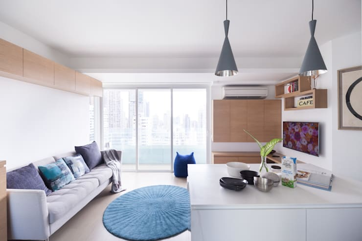 غرفة المعيشة تنفيذ Clifton Leung Design Workshop