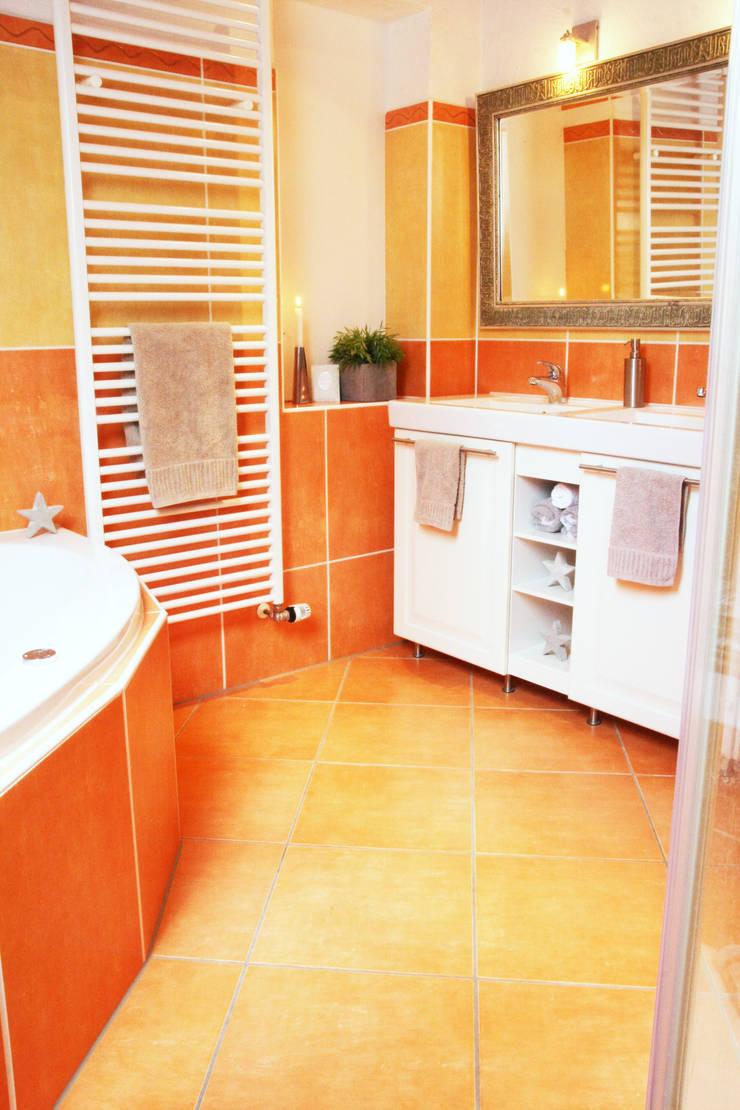Badezimmer nachher:   von  immoptimum HOME STAGING GbR