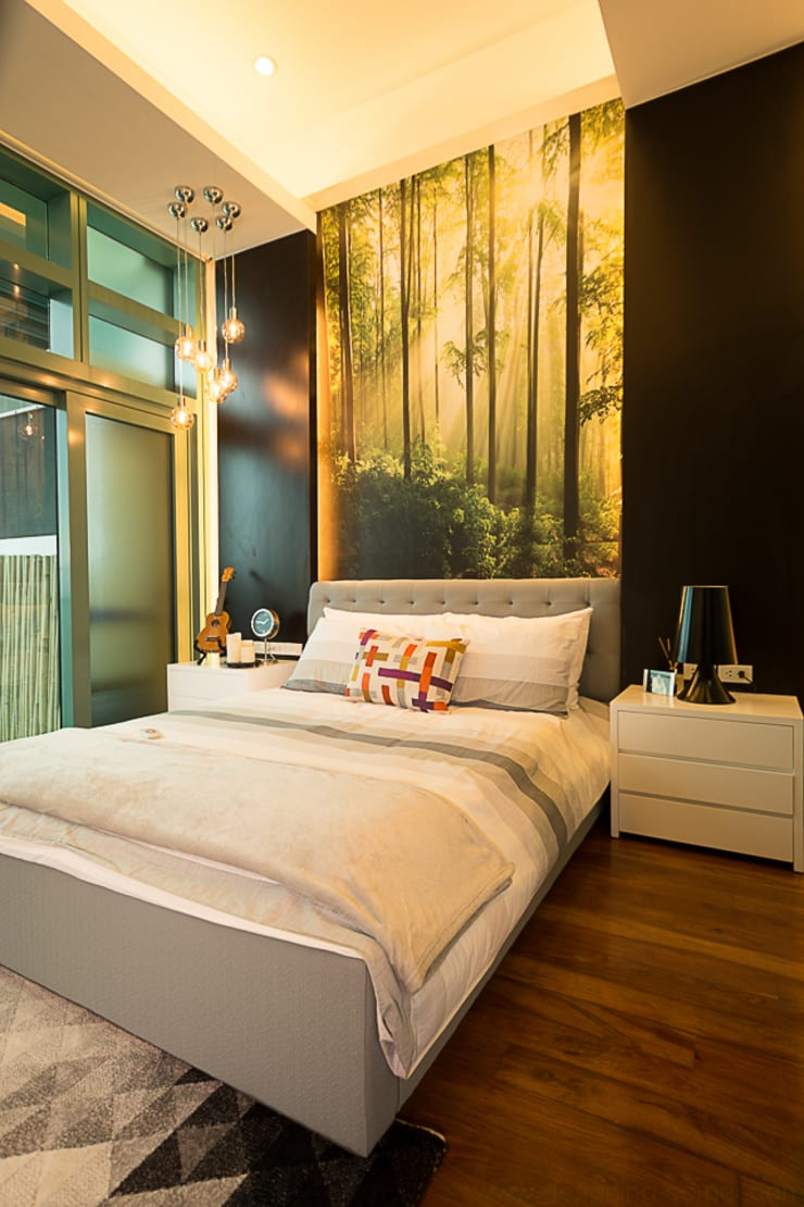 8 Forbes Town Road Golf View Residences:  Bedroom by TG Designing Corner