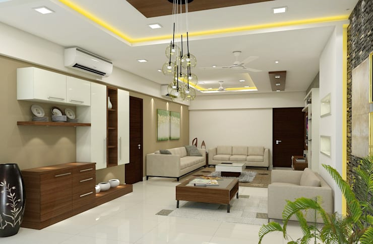 project kukatpally:  Dining room by shree lalitha consultants,Asian Plywood