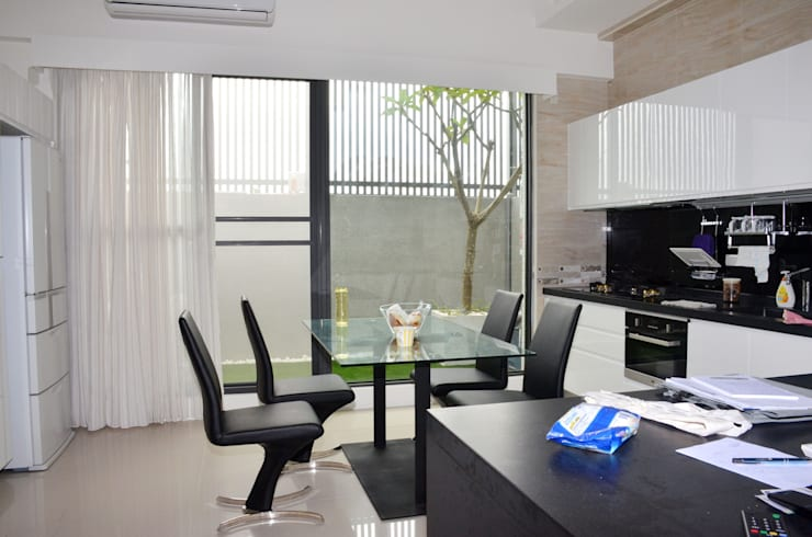 雲林高鐵透天住宅設計:  餐廳 by Gavin室內裝修設計
