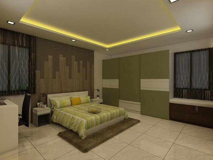 Master Bedroom:  Bedroom by Regalias India Interiors & Infrastructure