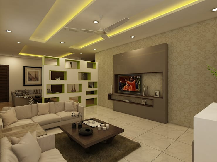 Drawing Room:  Living room by Regalias India Interiors & Infrastructure