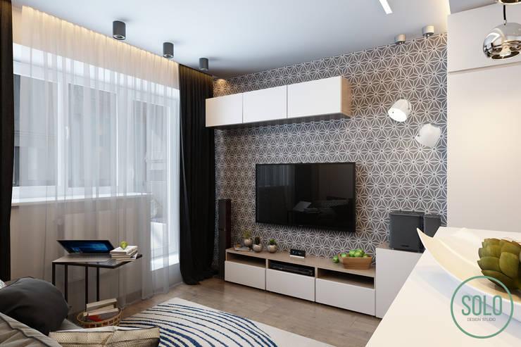 Salas / recibidores de estilo  por Solo Design Studio, Escandinavo