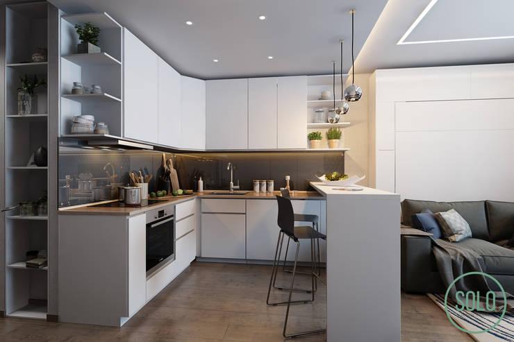 Cocinas de estilo  por Solo Design Studio, Escandinavo