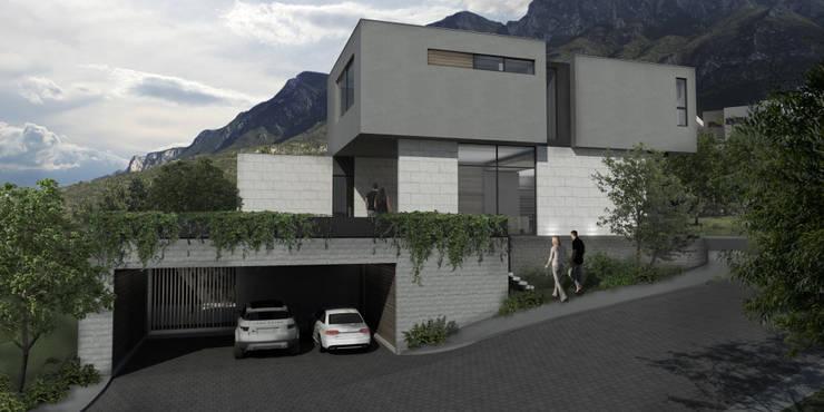Casa AA: Casas de estilo  por VOA Arquitectos