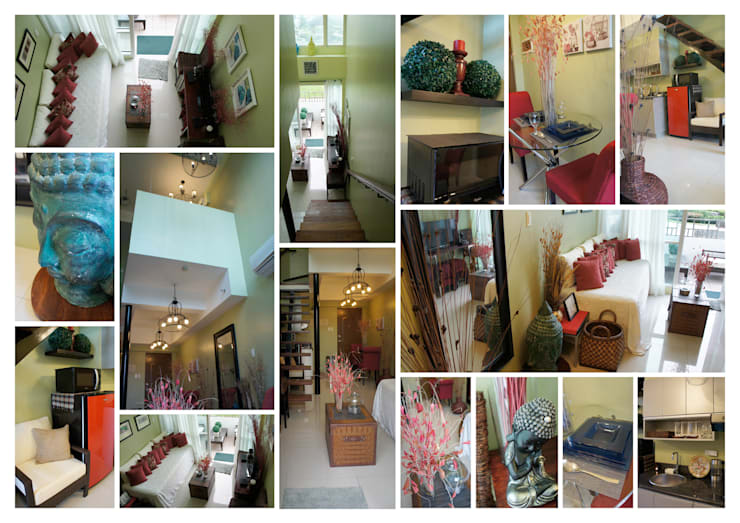 One Bedroom Loft in Makati (After):  Corridor, hallway & stairs by SNS Lush Designs and Home Decor Consultancy