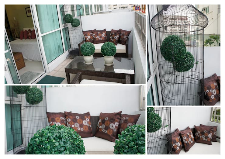 One Bedroom Loft in Makati (After):  Balconies, verandas & terraces  by SNS Lush Designs and Home Decor Consultancy