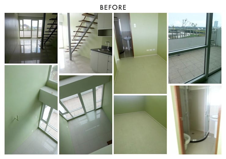 One Bedroom Loft in Makati (Before):  Prefabricated home by SNS Lush Designs and Home Decor Consultancy