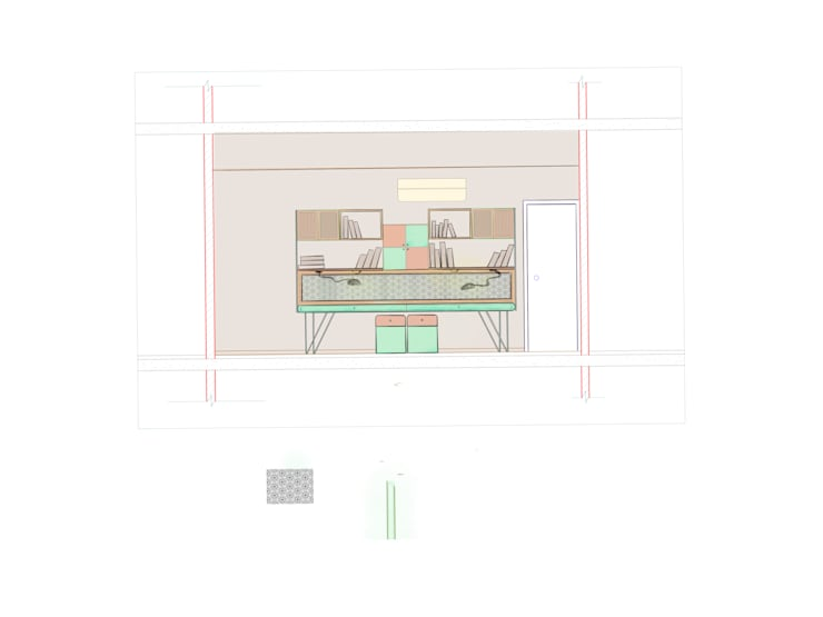 Residential: minimalistic Study/office by KAY'S DESIGN LAB