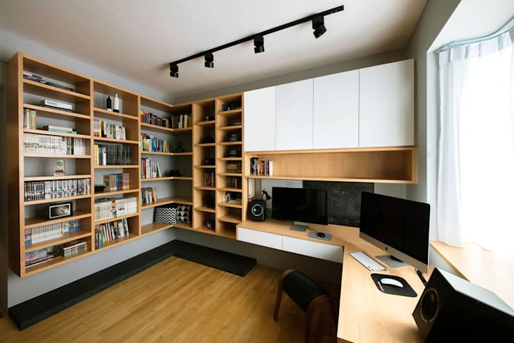 Caribbean @ Keppel bay :  Study/office by Eightytwo Pte Ltd