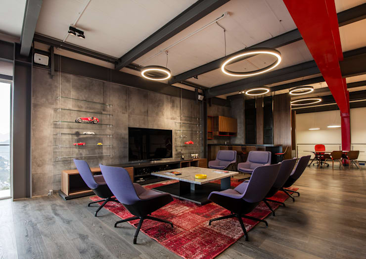 Salón Privado de Autos: Salas de estilo  por IAARQ (Ibarra Aragón Arquitectura SC)