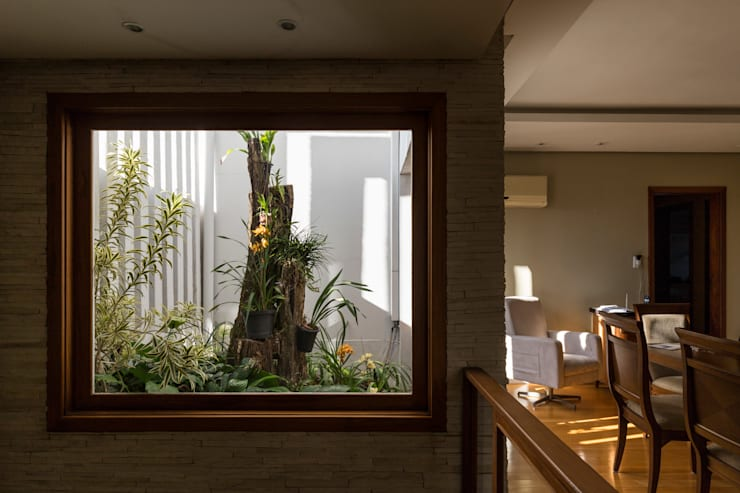 Jardines de invierno de estilo rústico por Kali Arquitetura