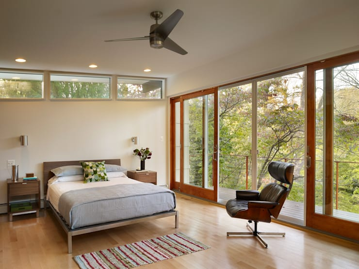 Seidenberg House: modern Bedroom by Metcalfe Architecture & Design