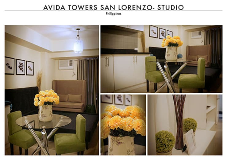 Avida San Lorenzo in Makati – The Studio:   by SNS Lush Designs and Home Decor Consultancy