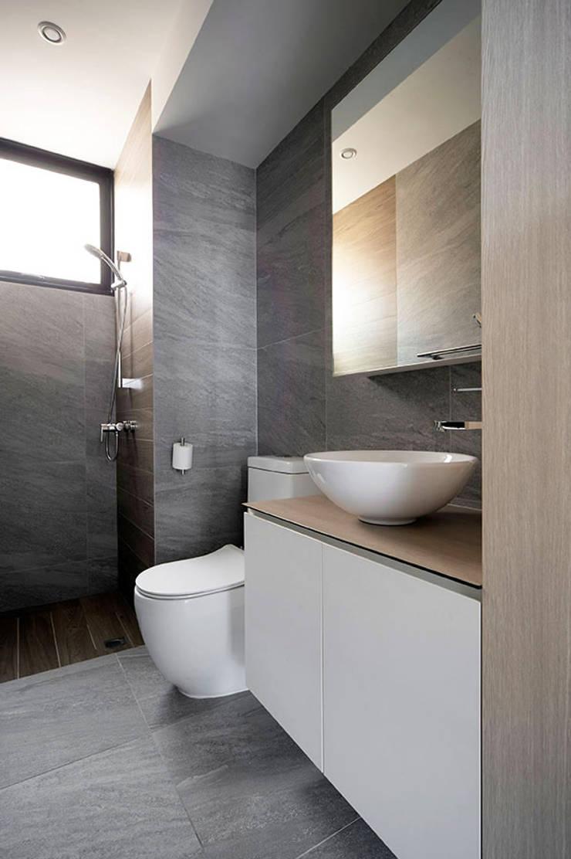 THE PROMENADE @ PELIKAT:  Bathroom by Eightytwo Pte Ltd,Scandinavian Quartz