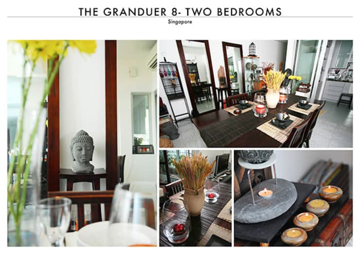 The Granduer 8 in Singapore – Two Bedrooms Penthouse:   by SNS Lush Designs and Home Decor Consultancy