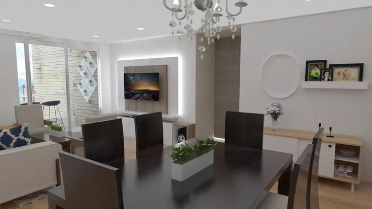 Salas / recibidores de estilo  por Naromi  Design