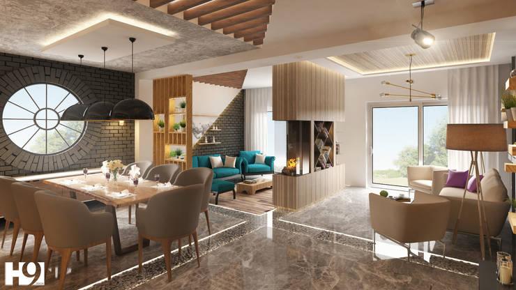 Salas de estar  por H9 Design