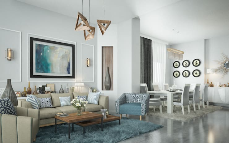 Living room by H9 Design