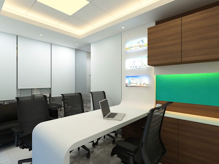 Office:  Office spaces & stores  by Nishtha interior