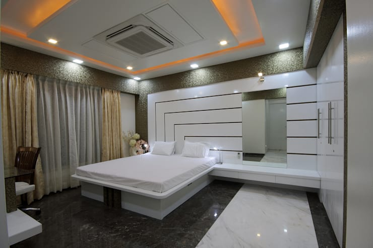 Residence -  Mr. Mane, Pune.:  Bedroom by Spaceefixs,Modern