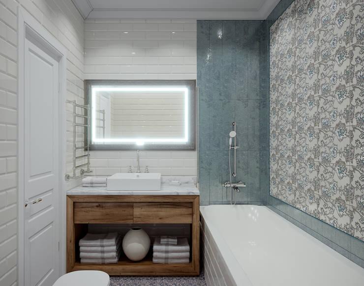 Квартира в ЖК Лобачевский: Ванные комнаты в . Автор – MonDesign