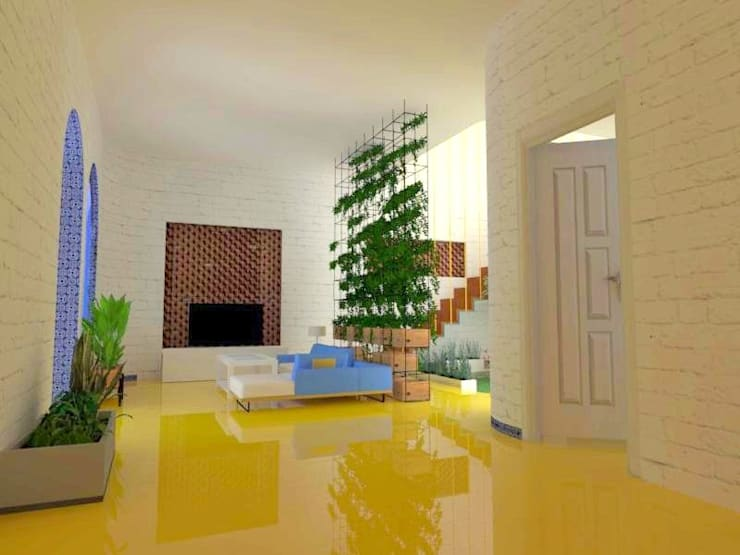 Living Space: modern Living room by Habitat Design Collective (HDeCo)