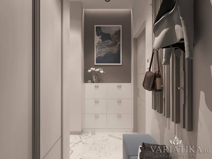 Дизайн квартиры в ЖК Невский - 72,5 м²: Коридор и прихожая в . Автор – variatika