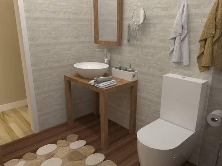 Diseño y reforma de vivienda unifamiliar en A Coruña: Baños de estilo  de A-kotar,