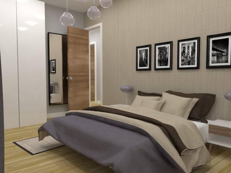 Diseño y reforma de vivienda unifamiliar en A Coruña: Dormitorios de estilo  de A-kotar,